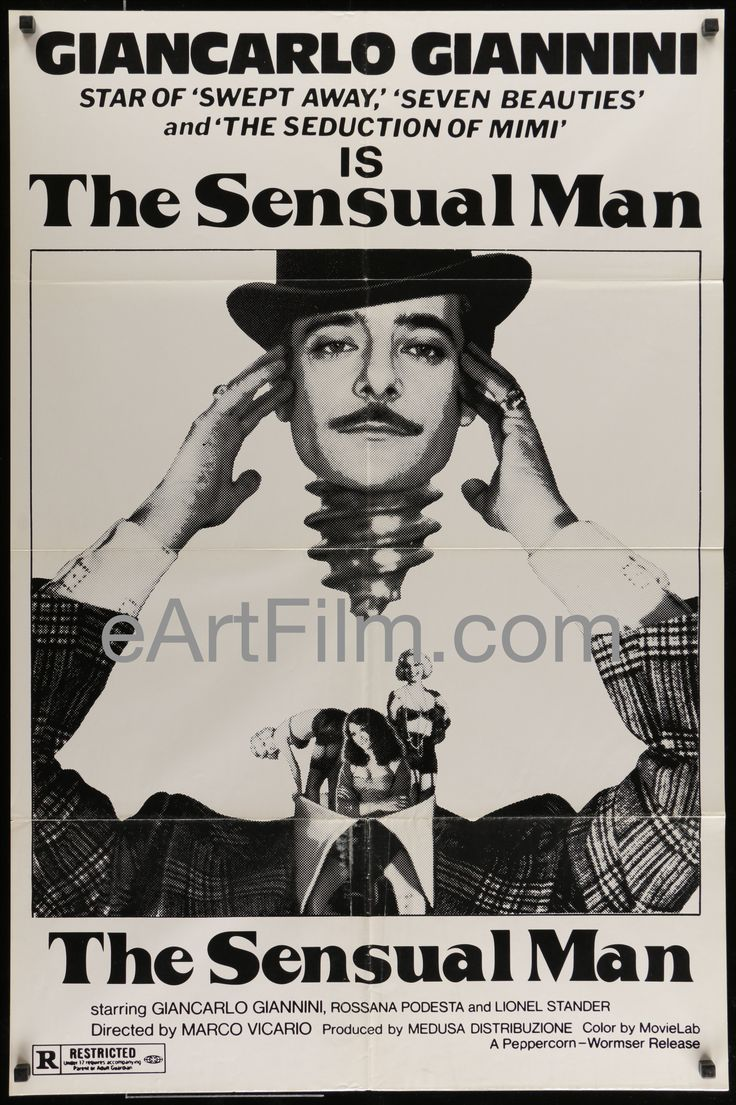 Sensual Man-Giancarlo Giannini-Rossana Podesta-Lionel Stander-1977-27x41