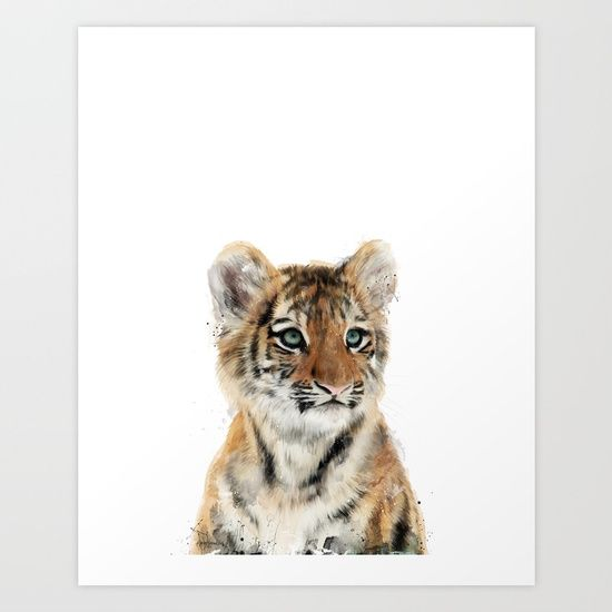 Little Tiger Art Print by Amy Hamilton. Worldwide shipping available at Society6.com. Just one of millions of high quality products available.