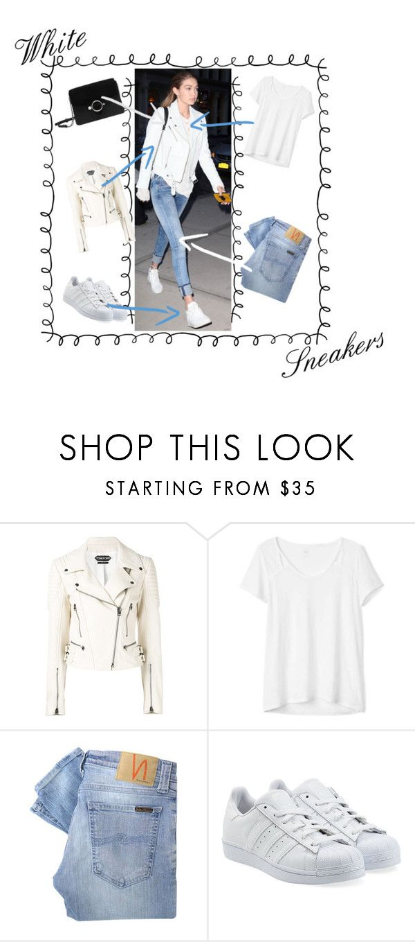 """""""N*88 White sneakers on Gigi Hdid 
