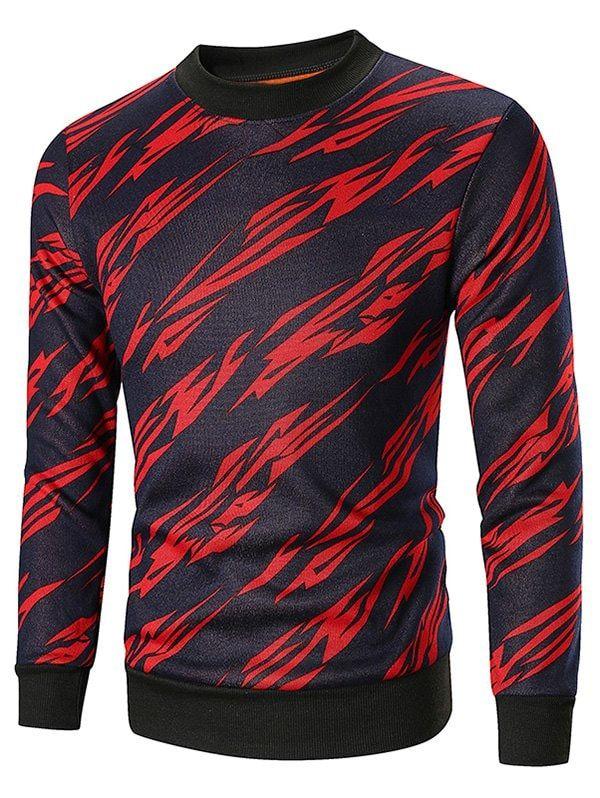 f4ec00eddb6 Crew Neck Allover Printed Sweatshirt -