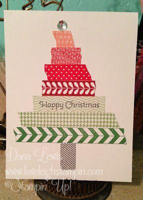 Washi Tape Christmas Tree Card