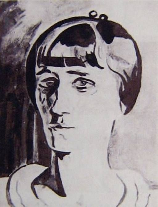 Л. Бруни. Анна Ахматова. 1922