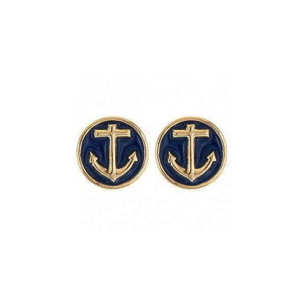 Anchor Earrings (27 CAD) ❤ liked on Polyvore featuring jewelry, earrings, stud earrings, anchor earrings, anchor jewelry, nautical anchor jewelry and nautical earrings