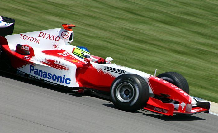 Cristiano Da Matta driving the Toyota F1 car during the 2004 US Grand Prix.