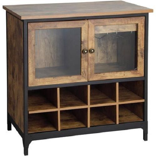 Buffet Server Wine Rack Cabinet Sideboard Country Rustic ...