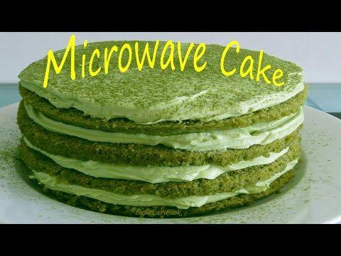 #Торт в микроволновке #Тирамису с зеленым японским чаем маття. Коржи за 5 минут #LudaEasyCook - YouTube