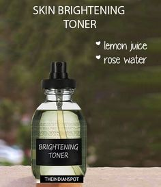 DIY Lemon Toner - Skin Brightening toner / mist