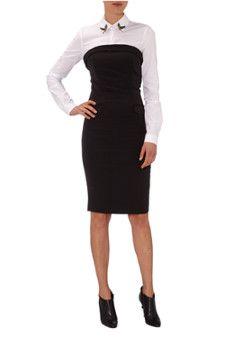 Bijenkorf   SuperTrash Drive jurk in zwart-wit 169,95