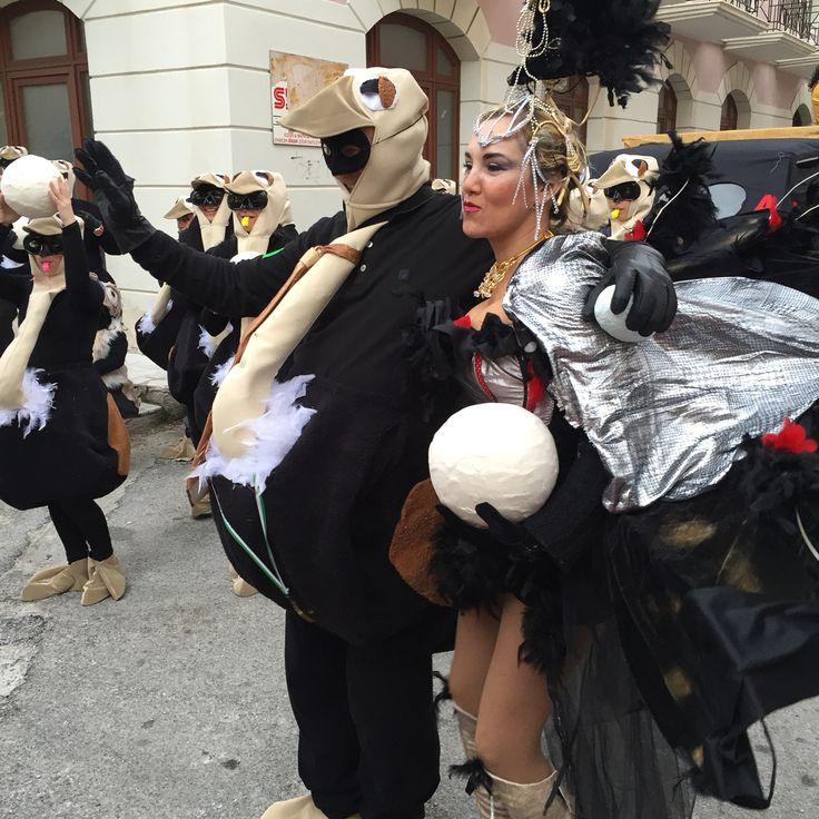 Καρναβάλι στη Σύρο με στρουθοκαμήλους!!!!!!!