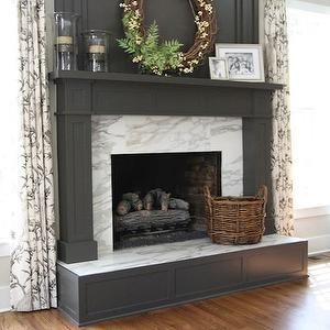 Transitional Fireplace Treatment Google Search