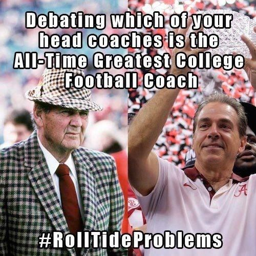 Love this kind of #RollTideProblems
