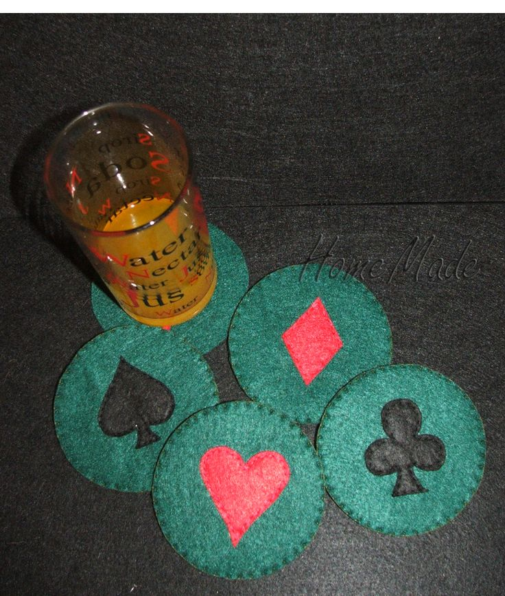 Bases de copos em feltro Naipes