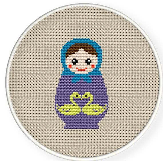 Instant download,free shipping,Cross stitch pattern, Cross-StitchPDF,Russian Doll,Matryoshka Babushkas,zxxc0142