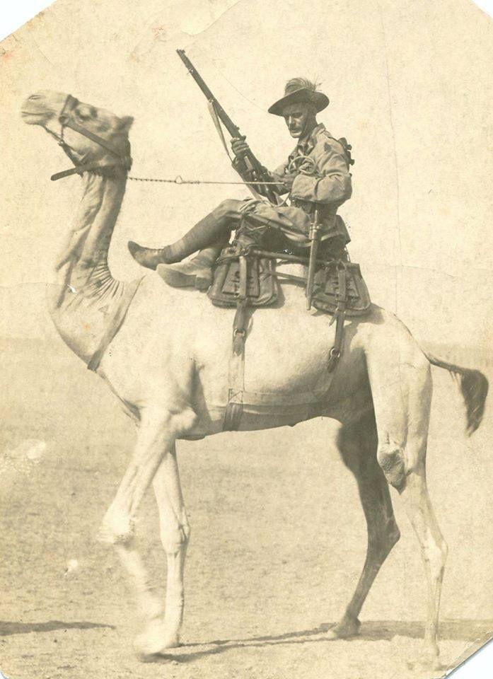 Australian Camel Corps; http://michelleule.com/2014/07/15/imperial-camel-corps/