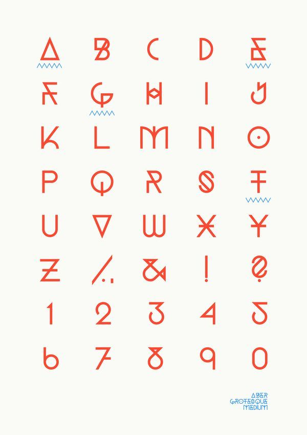 Font Aber Grotesque Medium Source Documents Inspirations Alfabeto De Tipografia Tipografias Abecedario Moldes De Letras Bonitas