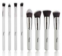 Frete grátis SIXPLUS 8 pcs preto pincéis de maquiagem Kit escova cosméticos essencial, Xams presente venda quente(China (Mainland))