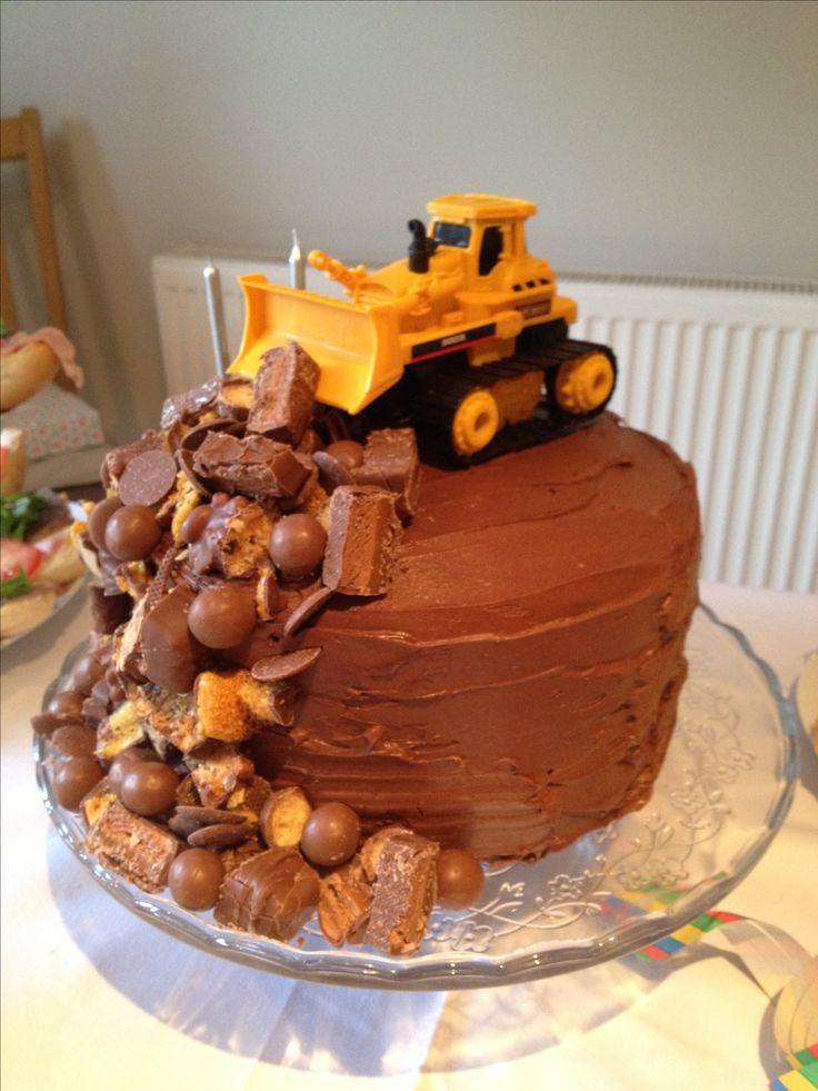 Bulldozer Cake for Phillip's birthday