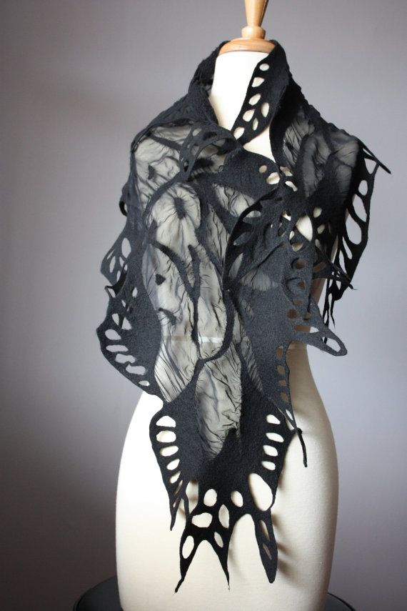 felted scarf - wow