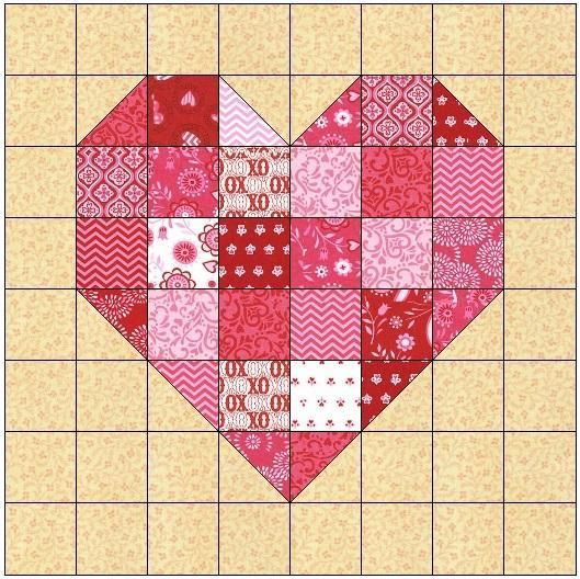 Free Quilt Patterns With Hearts : Best 25+ Heart quilt pattern ideas on Pinterest Heart quilts, Heart block and Quilt patterns