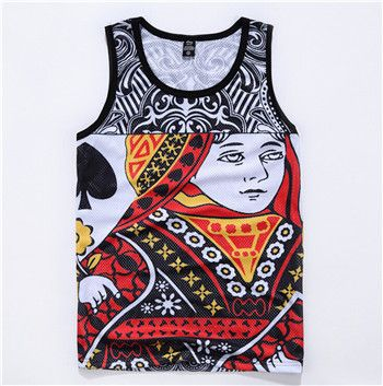 Harajuku tank tops 3D print Playing cards K/Q basketball vest sleeveless tee shirts summer style clothing free shipping-in Tank Tops from Men's Clothing & Accessories on Aliexpress.com | Alibaba Group