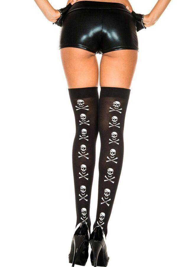 Women Sexy Stockings Black Velvet Thigh High Costume Accessories