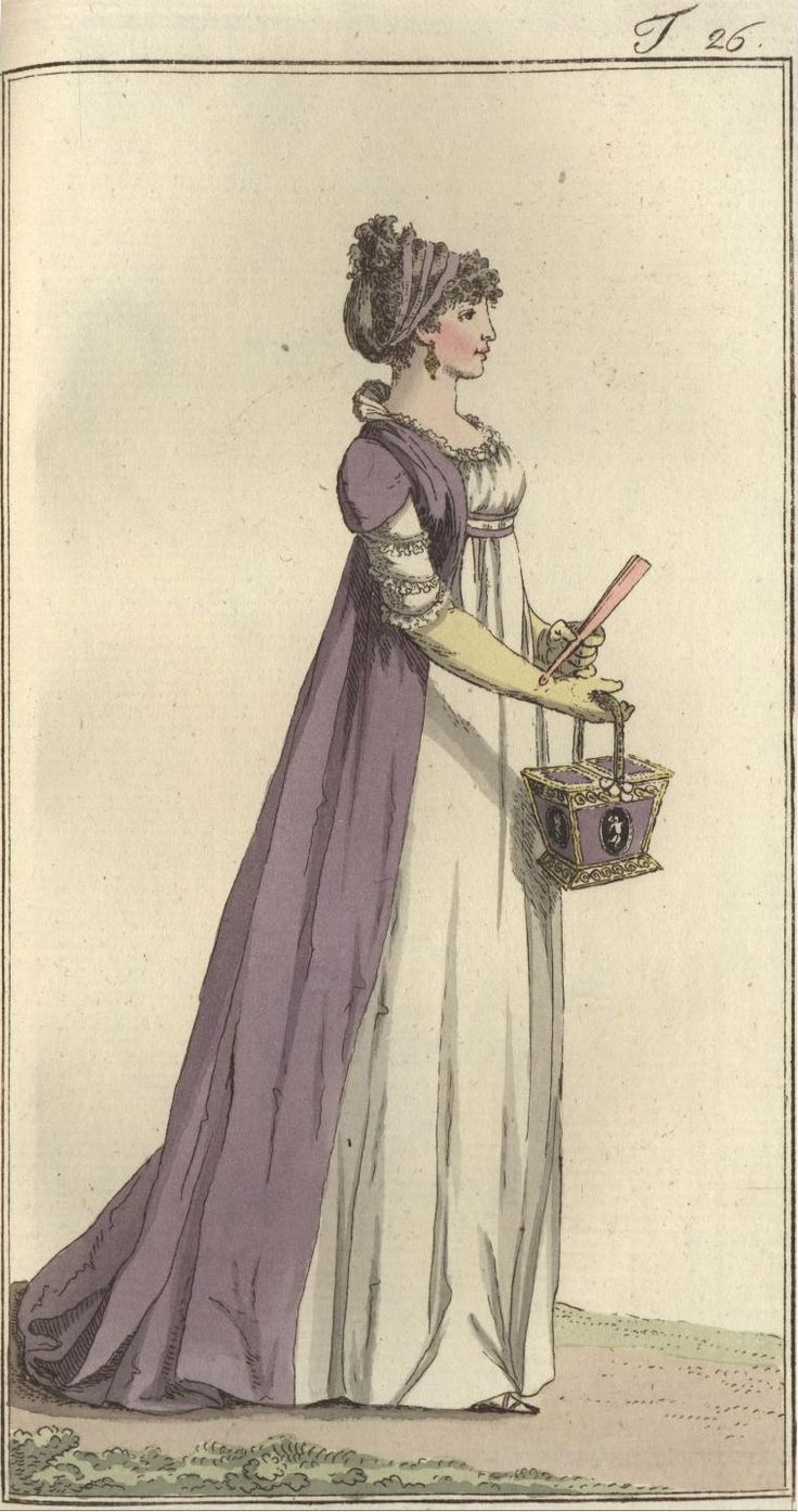 purple! I have taffeta this color, but it looks like it might be made of a softer fabric. 1797 Journal des Luxus und der Moden
