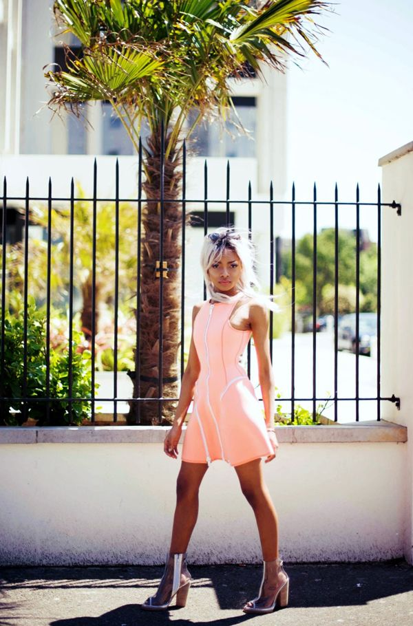 NYané (http://nyane-mpho.tumblr.com/) in the Light Curve Dress (http://www.nastygal.com/by-nasty-gal/light-curve-dress-tanline) & Ondine Clear Bootie (http://www.nastygal.com/product/ondine-clear-bootie)