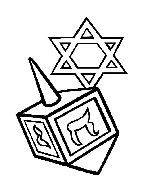 Chanukah, : Picture of Chanukah Coloring Page | Coloring ...