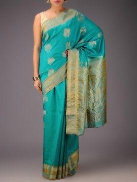 Green-Golden Kanjivaram Silk Saree