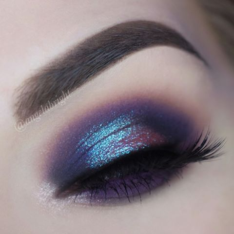 Gonna try this plum with turquoise shimmer. It looks amazing ❤
