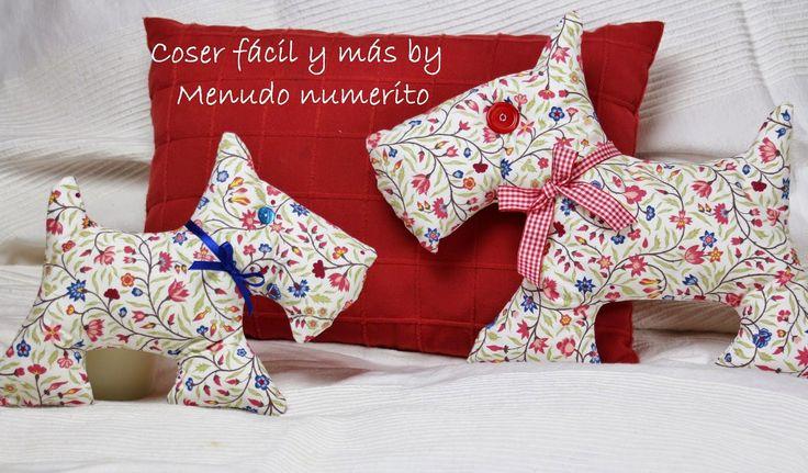 """El blog de """"Coser fácil y más by Menudo numerito"""": Cómo hacer un perro de trapo"""