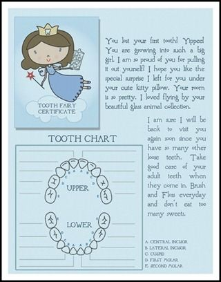 tooth fairy letter- such fun. I bet Sydney would like something like this