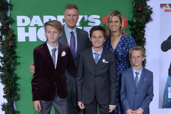 "Will Ferrell brought wife Viveca Paulin and sons Magnus, Mattias and Axel to the Los Angeles premiere of ""Daddy's Home 2."""