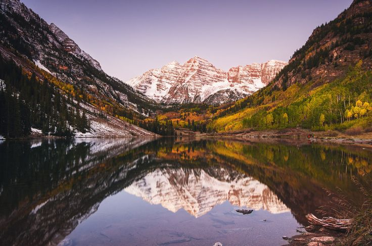 Maroon Lake and Maroon Bells, near Aspen | 17 Breathtaking Places To Go Soul Searching In The Colorado Rockies