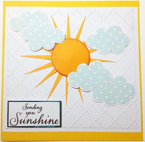 Sending You Sunshine - Handmade Card