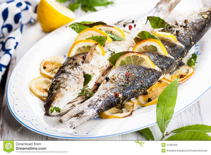 Oven-baked Sea Bass - Download From Over 29 Million High Quality Stock Photos, Images, Vectors. Sign up for FREE today. Image: 41481453