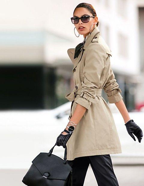 Doppelreihiger Kurztrench | MADELEINE Mode Schweiz