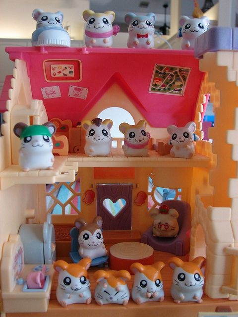 Ham-Ham House! How many of my ham ham fans got their hamster obsession from Hamtaro? :)) I did! And I actually still have this house.