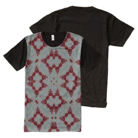 Abstract Pattern red All-Over-Print T-Shirt - click to get yours right now!