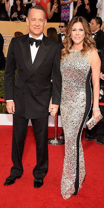 SAG Awards 2014: Arrivals : Tom hanks and Rita Wilson