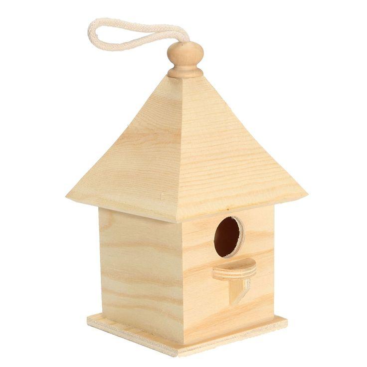 Madeira Caixa de Reprodução Do Papagaio Munia Ninho Dos Pássaros Caturras Engole Ninho Casa do Pássaro de Madeira Do Telhado Ao Ar Livre Decoração Do Jardim Ao Ar Livre(China)