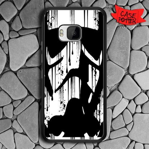 Black White Storm Trooper HTC One M9 Black Case