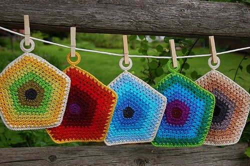 253 besten Potholder and coasters. Bilder auf Pinterest | Stricken ...