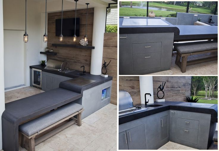 A better look at the gorgeous outdoor kitchen designed by @cascadedesignfl with a Cook-N-Dine Teppanyaki built in MO-80. Photo credit: Vania Hardtle.