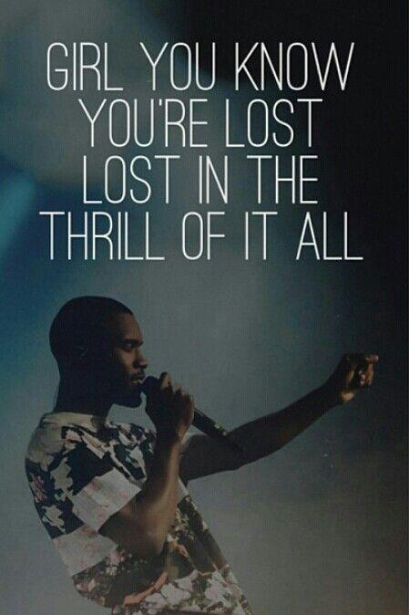Lost → Frank Ocean