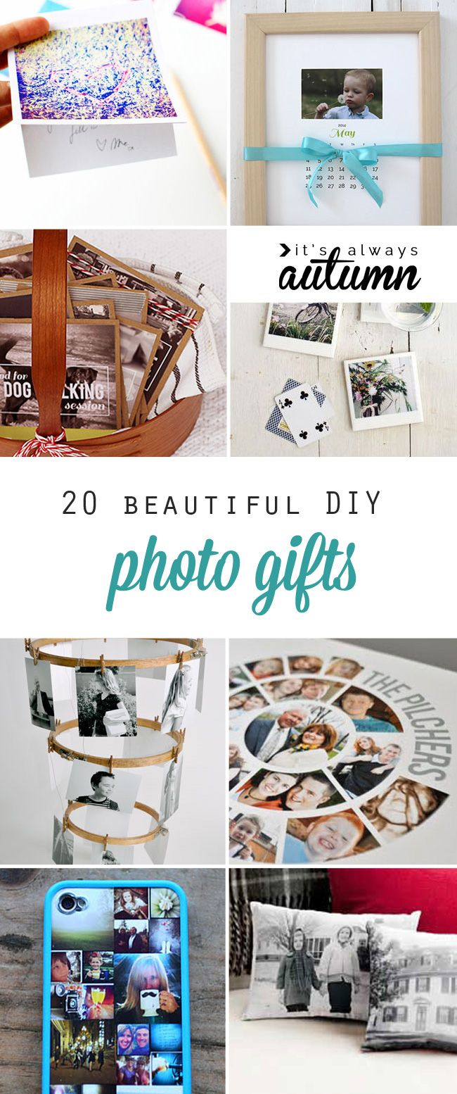 20 gorgeous DIY photo gifts: these easy handmade gift ideas are perfect for mother's day, father's day, grandparents, Christmas, and more.