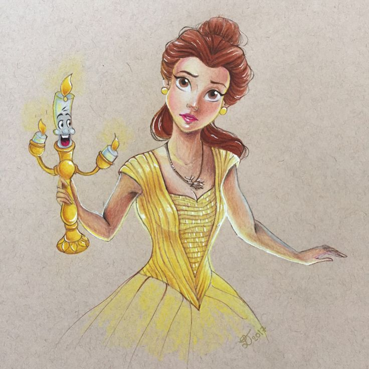 Belle's drawing (the right one).