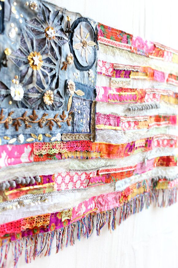 spencer_nicole's save of Giveaway! Win Our One-Of-A-Kind American Flag - Free People Blog on Wanelo