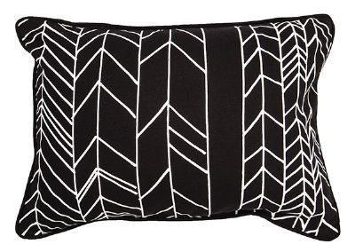 Monochrome feather cushion available instore & online