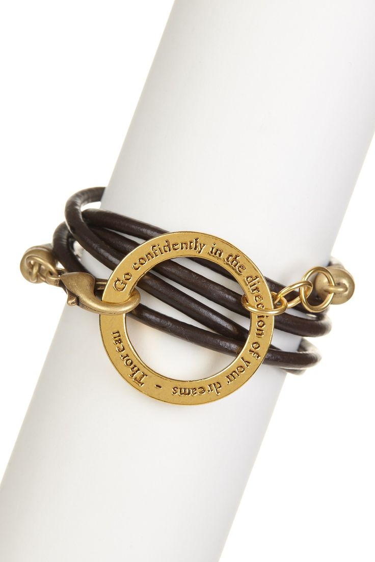 Go Confidently In The Direction Of Your Dreams  Thoreau Leather Wrap  Braceletsfashion